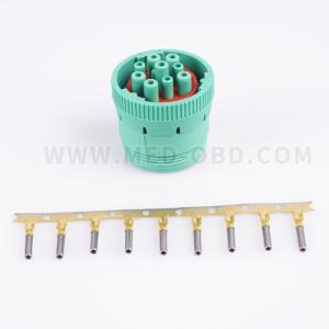 Type 2 Green J1939 9pin Female Connector With 9pins
