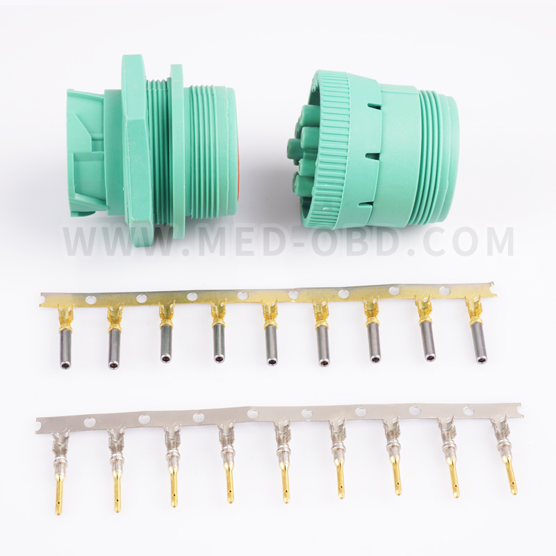 J1939 Female And Male Connector 9pin Plug