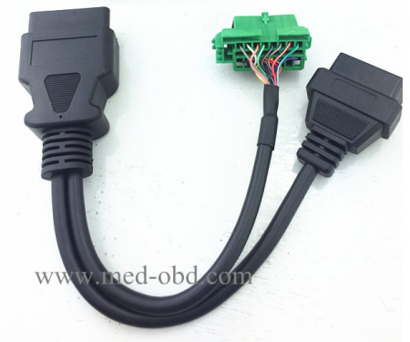 Vehicle GPS Tracking OBD2 Y Cable Citroen And Peugeot