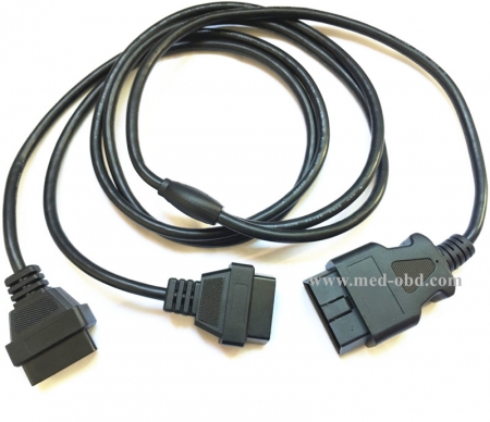 OBD2 Y CABLE, J1962M To 2 J1962F Y Cable ,5FT/1.5M