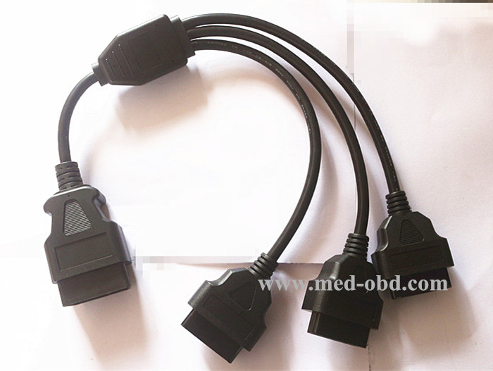 OBD2 Splitter Y Cable , J1962M To 3-J1962F, Splitter OBD2 Cable 1 To 3, 1ft
