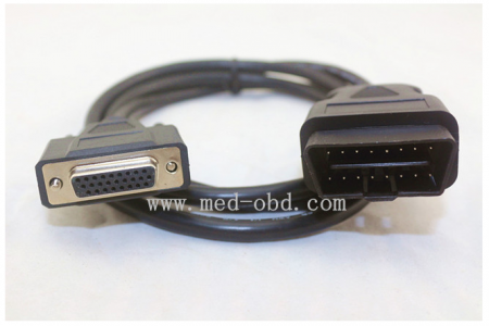 OBDII Cable, 16pin J1962m To DB26 Female Cable,Obd2 To Db26 For Honda