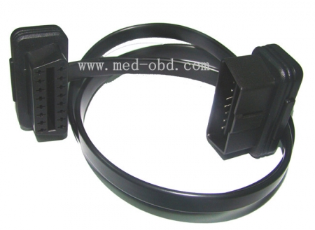 Cable, OBD 2 II Extension Flat Ribbon Cable Male To Female , 5ft