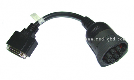OBD2 Interface Truck J1939 9pin To DB15 Male Cable