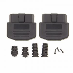 Right Angle OBD2 Plug With Enclosure And Cable Srain Relief