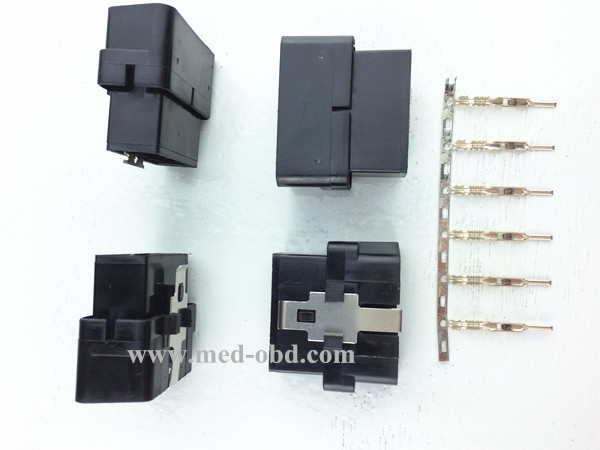 Assembled OBD2 Male Connector 16pin