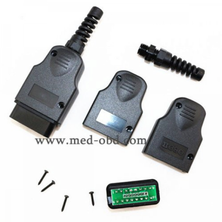 16Pin OBD2 Connector J1962m PCB Plug With Enclosure And Strain Relief
