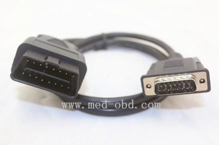 OBD2 Male To DB15 Male Cable 1.5m