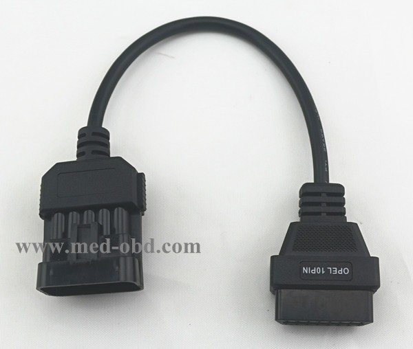 OBD2 Cable OBD2 To Opel 10pin Adapter