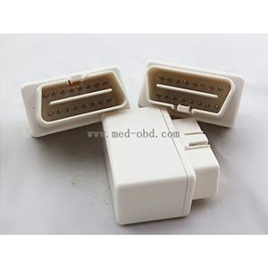 White ELM327 OBD2 Connector J1962m Plug With Enclosure